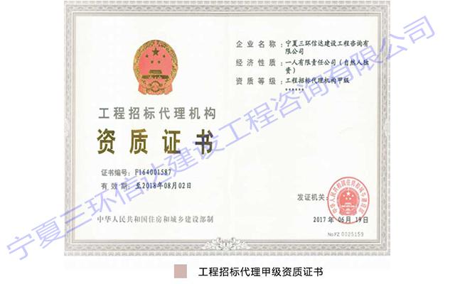 工程万博官网登录入口代理甲级资质证书
